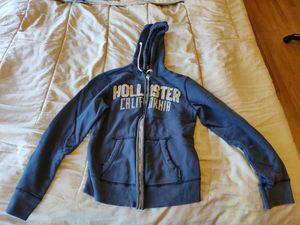 Men Hollister navy blue hoodie jacket, Size L for Sale in San Francisco, CA