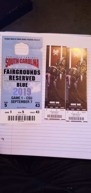 USC GAMECOCK TICKETS W/ PARKING PASS for Sale in Columbia, SC