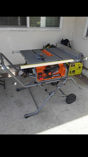 RIDGID 10 in. Pro Jobsite Table Saw with Stand retail $549 for Sale in Stanton, CA