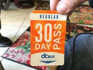 30 Day Regular OC Bus pass for Sale in La Habra, CA