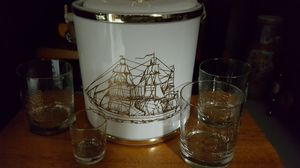 Sail Boat Ice Box and glass for Sale in Seattle, WA