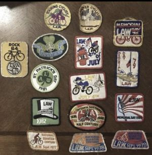 Vintage Cycling Patches L.A.W. ~ 1960's to 1980's Nice Lot! for Sale in Lemont, IL