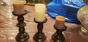 3 candle holder for Sale in Elizabeth, NJ