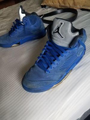 Blue Suede Air Jordan 5's for Sale in Raleigh, NC