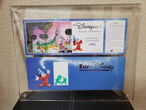 1992 Euro Disney Commemorative Passport in Plastic Acrylic Display Case for Sale in Scottsdale, AZ