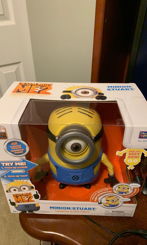 Despicable me 2 minion Stuart Laughing action figure new in box