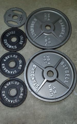 Olympic Weight plates 45lb (2) and 10lb (4) for Sale in Concord, NC