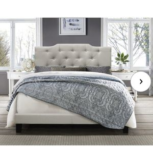 Queen upholstered bed frame for Sale in Everett, MA