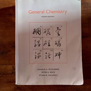 General Chemistry Fourth Edition. Chemistry Textbook for College for Sale in Los Angeles, CA