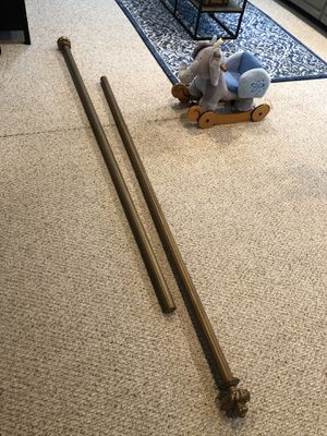 Extra long curtain rod set for Sale in McLean, VA