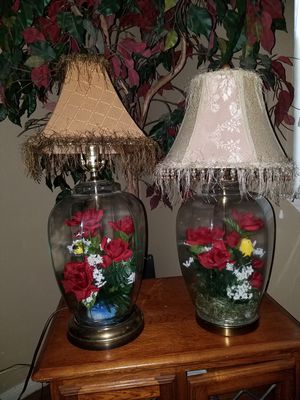 Set of beautiful glass lamps for Sale in San Antonio, TX
