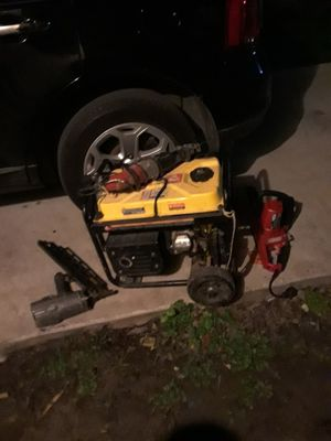 Champion 4000 watt generator,sawzall,nailgun,and a chainsaw $400 or best offer for Sale in Houston, TX