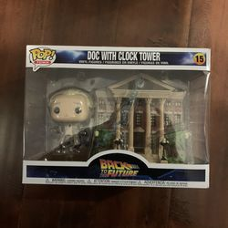 Back To The Future Doc Brown With Clock Tower Funko Pop Town for Sale in Los Angeles,  CA