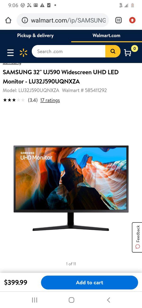 "Samsung 32"" widescreen computer monitor"