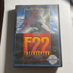 F22 Interceptor Sega Genesis Game Cartridge With Original Box And Instruction Booklet Advanced Tactical Fighter Air Force 16 Bit Version for Sale in Ocala,  FL