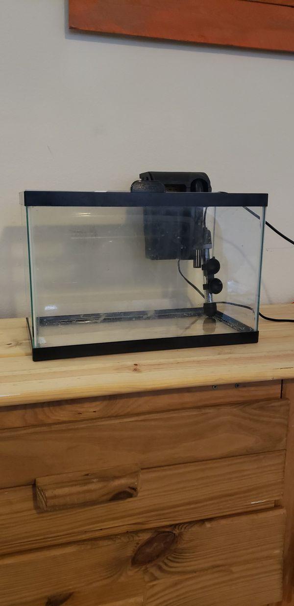 5.5 gallon aquarium. Practically new