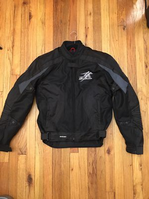 Suzuki Hayabusa Motorbike Leather Jacket In Cow hide/ 5 Protection Armour inside for Sale in Glen Burnie, MD