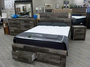 💲39 Down Payment 🍃 Derekson Gray Footboard Storage Platform Bedroom Set | B200 235 for Sale in Columbia, MD