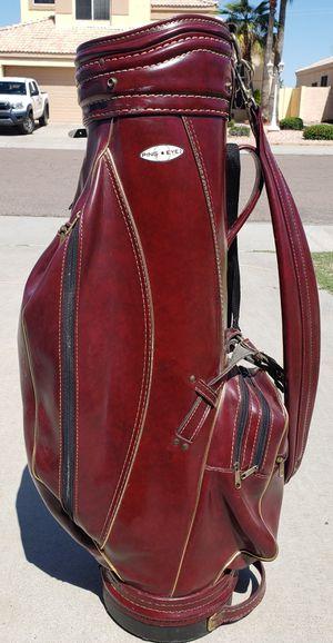 Ping EYE 2 Black dot Mahogany Brass Gold Classic vintage Golf bag Austads Soiux falls SD for Sale in Avondale, AZ