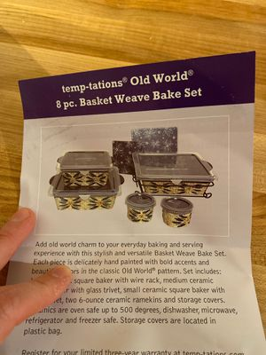 Casserole bake and storage dish set for Sale in Cambridge, MA