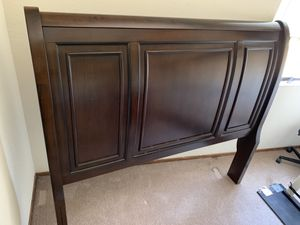 Dark brown bed frame for Sale in Fremont, CA