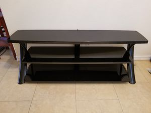 """TV Stand Shelf Cabinet Black Glass 65"""" for Sale in Goodyear, AZ"""