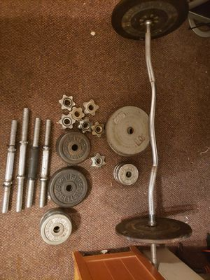 Adjustable barebell and weights for Sale in Tucson, AZ