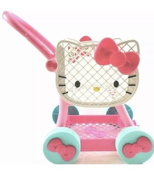 Rare hello kitty shopping cart with coffee cup for Sale in San Antonio, TX