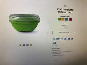 Round Food Storage Container for Sale in Renton, WA