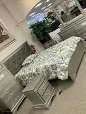$39 Down Payment Best DEAL 🍾 SPECIAL] Amalia Gold Panel Bedroom Set SAME DAY DELIVERY ON DISPLAY for Sale in Jessup, MD