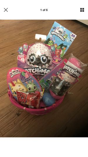 Hatchimals loaded Easter basket with hatchimal filled eggs and toys brand new for Sale in Orlando, FL