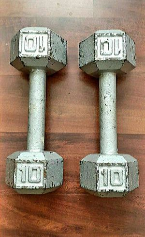 10 lbs. Dumbells (cast iron) for Sale in Baltimore, MD