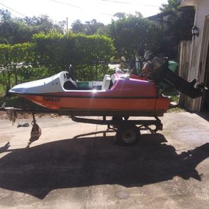 Mini Speed Boat And Trailer Only 1500 OBO No Motor for Sale in DeLand, FL