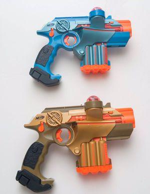 Nerf Phoenix LTX Lazer Tag Guns Blue & Gold Lot of 2 for Sale in Fresno, CA