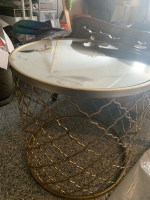 Gold Side Table/End Table for Sale in Lorton, VA
