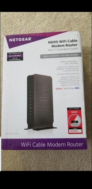 NetGear WiFi Cable Modem Router for Sale in Sterling, VA