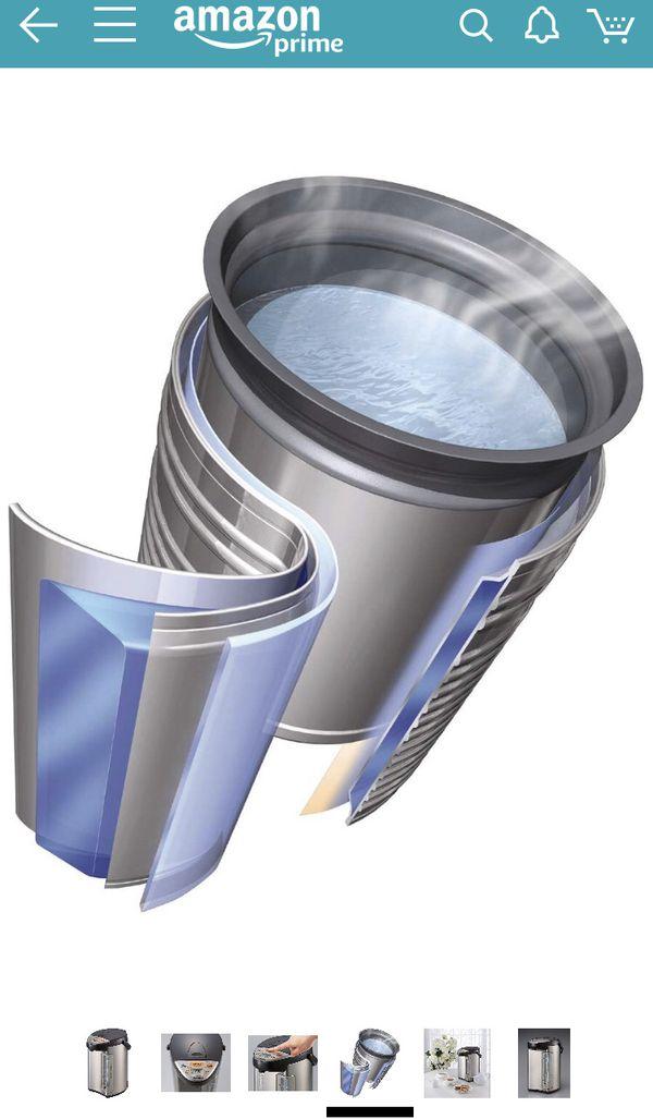 Hybrid Vaccum Water Boiler, Heater And Warmer, 4-Liter (1 Gal), Stainless Steel