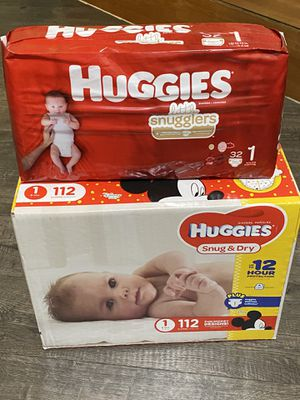 Size 1 huggies for Sale in Union City, CA