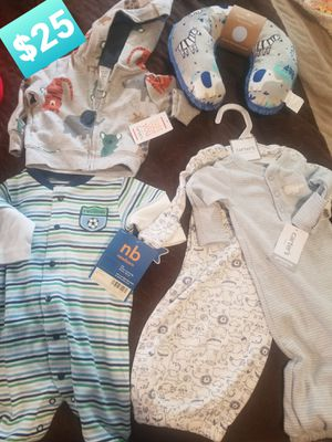 New w tags baby clothes size Newborn for Sale in Bell, CA
