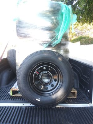 """NEW TRAILER TIRES 15"""" 6 LUGS COLOR BLACK HEAVY DUTY IF SOMEONE INTERESTED PLEASE TEXT ME. for Sale in Los Angeles, CA"""