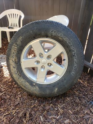 2 Jeep wheels and tires for Sale in Alta Loma, CA