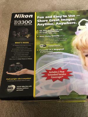 Nikon dSLR 3300 with 2 lenses 18-55 & 55-200 mm for Sale in Smyrna, GA