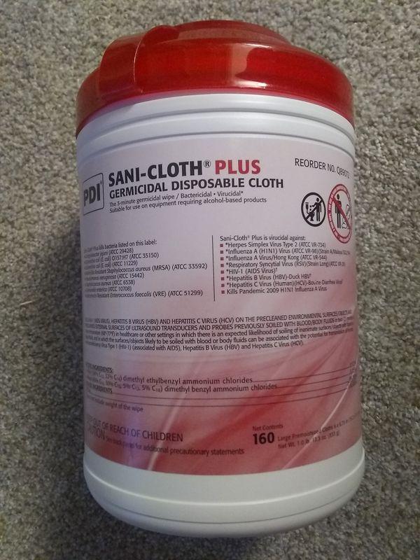 Sanitizing Wipes. New. Big Box 160ct