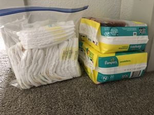 Pampers Swaddlers- Newborn Size and Preemie Size for Sale in Kissimmee, FL