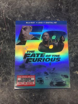 The fate of the furious f8 blu Ray for Sale in Silver Spring, MD