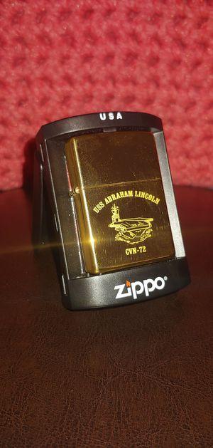 USS Abraham Lincoln CVN-72 Zippo Lighter - NEW! for Sale in Granite Falls, WA