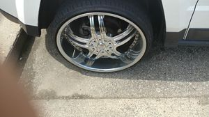 22 in rims with brand new tires for Sale in Cheney, KS