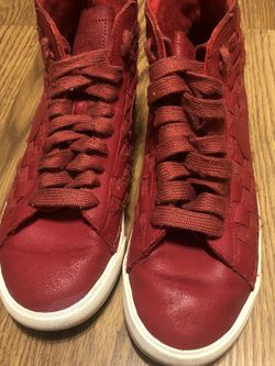 Nike Blazer Mid Woven Hi Top Shoes Leather Red Womens SIZE 9 for Sale in Edinburgh,  IN