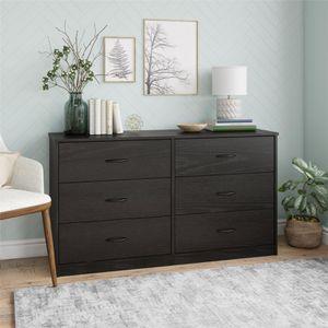 Mainstays Classic 6 Drawer Dresser, Black Oak Finish for Sale in Houston, TX