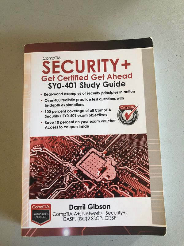 Certification security+ get certified get ahead study Guide